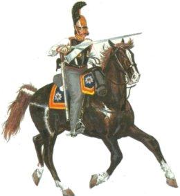 Кирасир в полной походной форме 1812г.